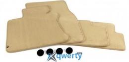 Комплект оригинальных ковриков для BMW 6 (E63/E64) 4 шт велюр (бежевые) (51479117347)