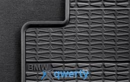 Коврики оригинальные для BMW 1 (E81.E82.E87.E88) задние резиновые (51470429185/51472239585)