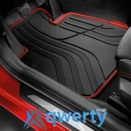Коврики оригинальные для BMW 3 (F30) передние резиновые (красная окантовка) (51472219800)