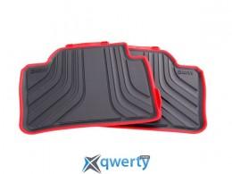 Коврики оригинальные для BMW 3 (F30) задние резиновые (красная окантовка) (51 47 2 219 803)