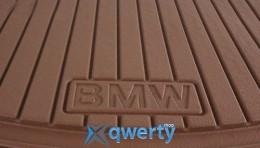 Коврики оригинальные для BMW 5 (F10, F11) передние резиновые бежевые (51472153724)
