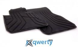 Передние ножные коврики для BMW 4 (F32) черные резиновые (51472348155)