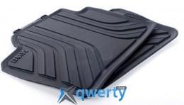 Задние ножные коврики для BMW 4 (F32) черные резиновые (51472348158)