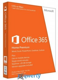 Microsoft Office 365 Home Prem 32/ 64 Russian Subscr 1YR Medialess BOX (6GQ-00177)