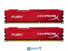 16GB DDR3 (2x8GB) 1600 MHz Kingston HyperX Fury Red (HX316C10FRK2/16)