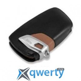 Футляр для ключей BMW Key Holder Fob Leather Case Cover Luxury Line Brown (82292219917)