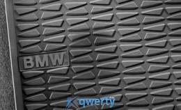 Коврики оригинальные для BMW X1 (E84) задние резиновые черные (51472158679/51472336795)