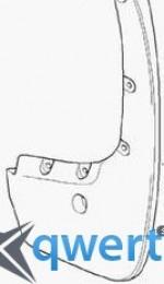 Передние брызговики BMW 5 (F10, F11) (82 16 2 155 858)