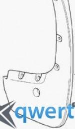 Задние брызговики BMW X5 (E70) с арками (82 16 0 416 163)