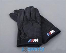 Кожаные перчатки BMW M Logo Black Leather Driving Gloves (размер M) (80160435735)