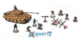 Модель немецкого среднего танка Panther с солдатами (85073)