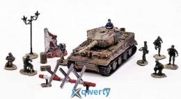 Модель немецкого тяжелого танка PzKpfw VI Tiger с солдатами