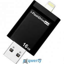 PHOTOFAST i-Flashdrive EVO Plus 16Gb (USB-microUSB/Lightning) Black (EVOPLUS16GB)