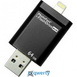 PHOTOFAST i-Flashdrive EVO Plus 64Gb (USB-microUSB/Lightning) Black (EVOPLUS64GB)