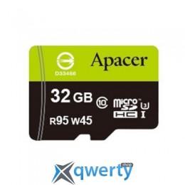 APACER 32GB MICROSDHC UHS-I (95/45) CLASS10 W/0 ADAPTER RP (AP32GMCSH10U3-R)