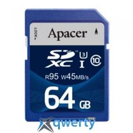 APACER 64GB SDHC UHS-I 95/45 CLASS10 (AP64GSDXC10U3-R)