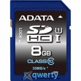 A-DATA 8GB SDHC CLASS 10 UHS-1 (ASDH8GUICL10-R)