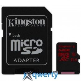 KINGSTON 64GB MICROSDXC CLASS 10 UHS-I U3 (SDCA3/64GB)