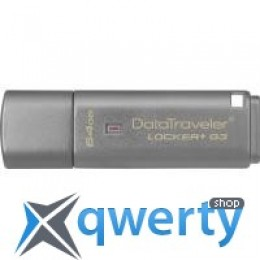 Kingston 64Gb DataTraveler Locker+ G3 USB 3.0 (DTLPG3/64GB)