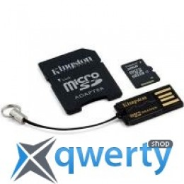 Kingston 32Gb microSDHC class 4 + SD-adapter + USB-reader (MBLY4G2/32GB)