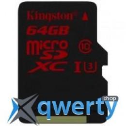 Kingston 64GB microSD class 10 UHS| U3 (microSDHC no adapter)