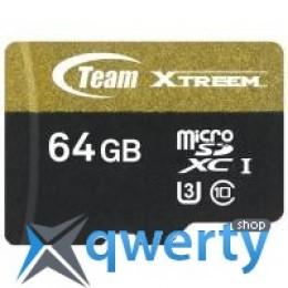 Team 64GB microSD class 10 UHS| U3 (TUSDX64GU303)