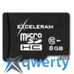 eXceleram 8Gb microSDHC class 10 без адаптера (MSD0810VA)