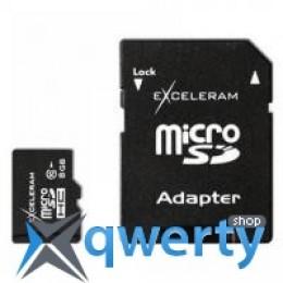 eXceleram 8Gb microSDHC class 10 c адаптером SD (MSD0810VA)