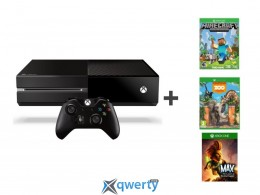 Xbox One 500GB + Zoo Tycoon + Minecraft + Max