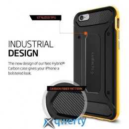 Spigen Case Neo Hybrid Carbon Reventon Yellow for iPhone 6/6S (SGP11622)