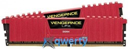 Corsair  8GB DDR4-2666 (2x4) PC4-21300  Vengeance LPX (CMK8GX4M2A2666C16R) Red