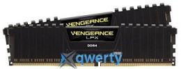 Corsair 16GB DDR4-3000 (2x8) PC4-24000 Vengeance LPX (CMK16GX4M2B3000C15) Black