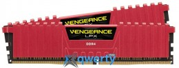Corsair Vengeance LPX  8GB DDR4-3000 PC4-24000 (2x4)(CMK8GX4M2B3000C15R) Red
