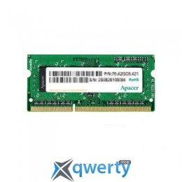 SODIMM DDR3 4GB 1600 MHZ APACER (AS04GFA60CATBGC)