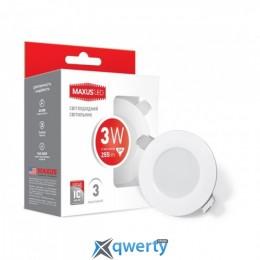 Maxus SDL mini, 3W мягкий свет (1-SDL-010-01)