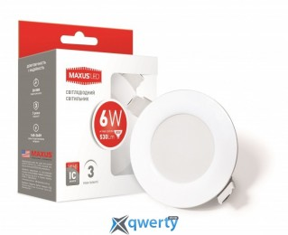 Maxus SDL mini, 6W мягкий свет (1-SDL-003-01-D)