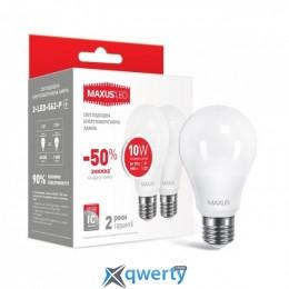 Maxus А60 10W яркий свет 220V E27, 2шт. (2-LED-562-P)
