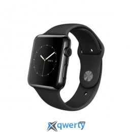 Apple Watch 42mm Space Black Stainless Steel Case with Black Sport Band (MLC82)
