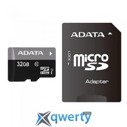 A-DATA 32Gb microSDHC Ultra UHS-I +SD адаптер Class 10 (AUSDH32GUICL10-RA1)