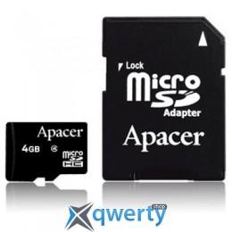 Apacer microSDHC Class4 4GB w/ 1 Adapter RP (AP4GMCSH5-R)