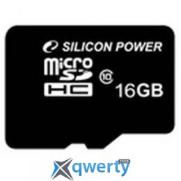 Silicon Power 16Gb microSDHC class 10 (SP016GBSTH010V10)