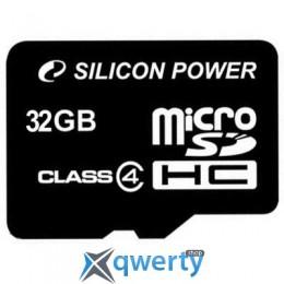 Silicon Power 32Gb microSDHC class 4 (SP032GBSTH004V10)