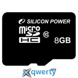 Silicon Power 8Gb microSDHC class 10 (SP008GBSTH010V10)
