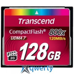 Transcend Compact Flash Card 128Gb 800X (TS128GCF800)