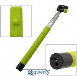 Selfie палка iLubchik на длинной ручке с кнопкой зеленый YSK-03