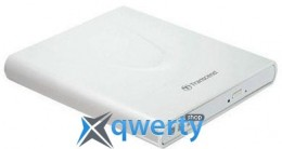 Transcend DVD±RW USB 2.0 External Ultra Slim White Retail (TS8XDVDS-W)