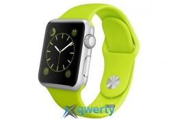 Apple Watch Sport 38mm Silver Aluminum Case with Green Sport Band (MJ2U2LL/A)