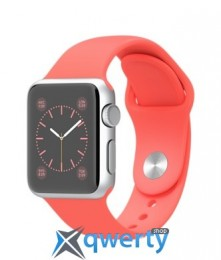 Apple iWatch 38mm Silver Aluminum Case with Pink Sport Band MJ2W2