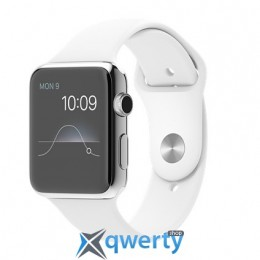 Apple Watch Sport 38mm Silver Aluminum Case with White Sport Band MJ2T2