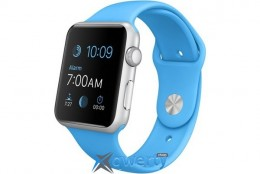 Apple Watch Sport 42mm Silver Aluminum Case with Blue Sport Band (MJ3Q2LL/A)